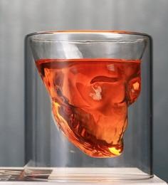 Nestroots Crystal Skull Doomed For Tequila Clear Shot Glasses - Set Of 4