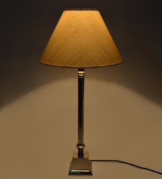 Lamp shades buy table lamp shades online in india pepperfry off white cotton lamp shade aloadofball Images