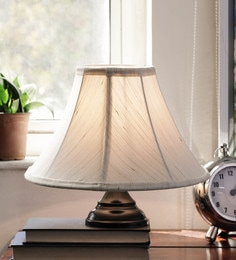 New Era Off White Cotton Table Lamp
