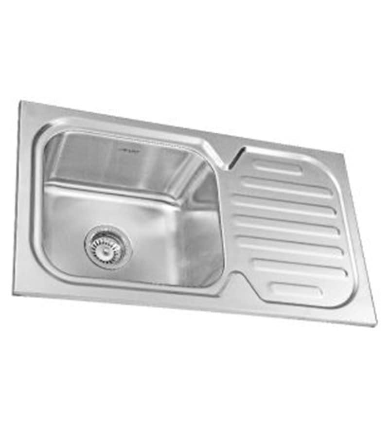 Neelkanth Montelo 3218 Matt Stainless Steel Single Bowl kitchen sink with Drainer