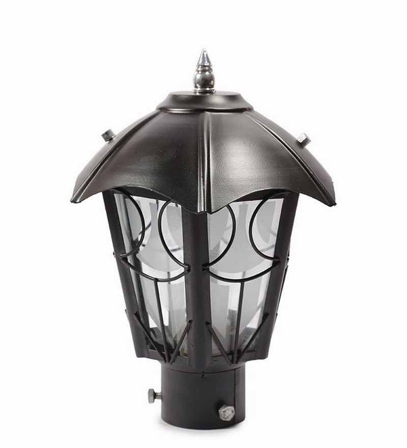 Black Metal & Glass Gates Light by New Era