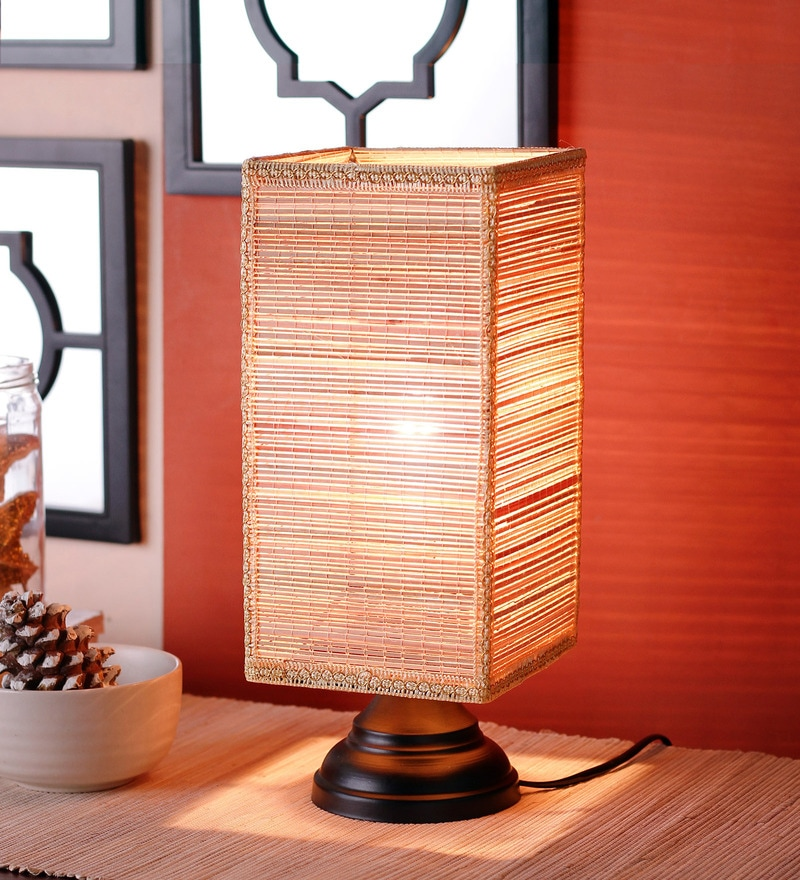 Square Bamboo Table Lamp by New Era