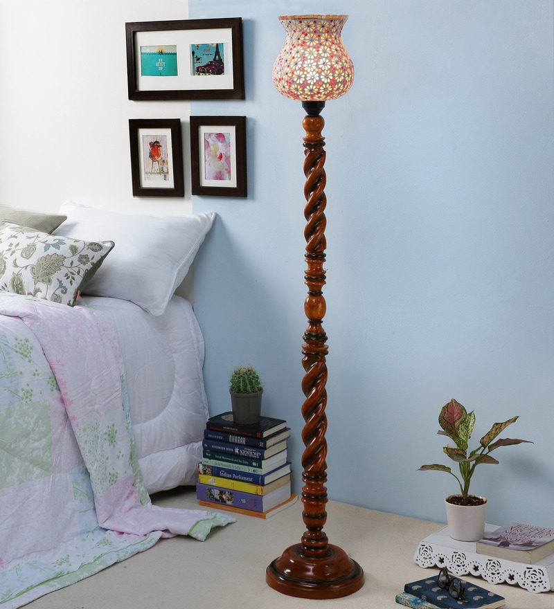 Multicolor Glass Floor Lamp by New Era