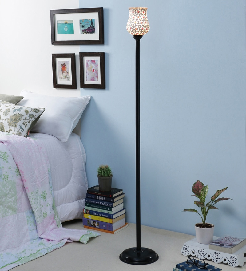 Multicolor Glass Stick Floor Lamp by New Era