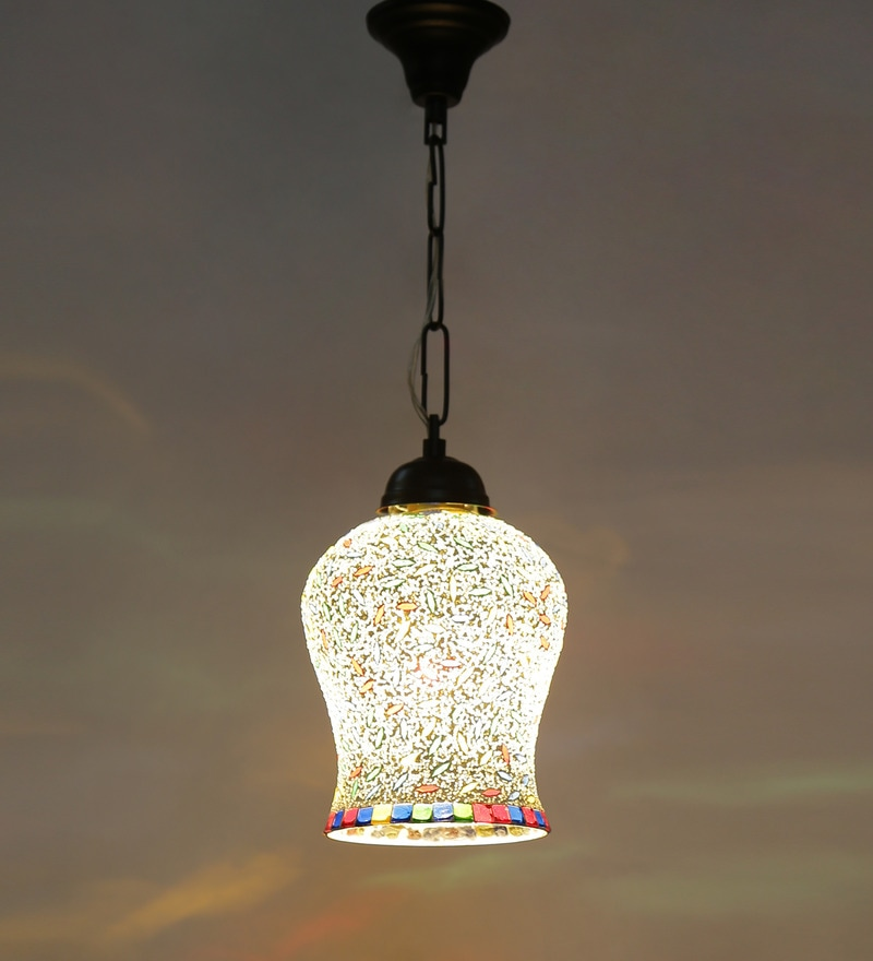 Multicolour Metal 40W 7 x 4.5 x 21 Inch Hanging Lamp by New Era