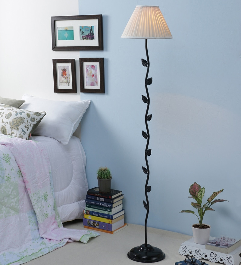 Off White Cotton Leaf Floor Lamp by New Era