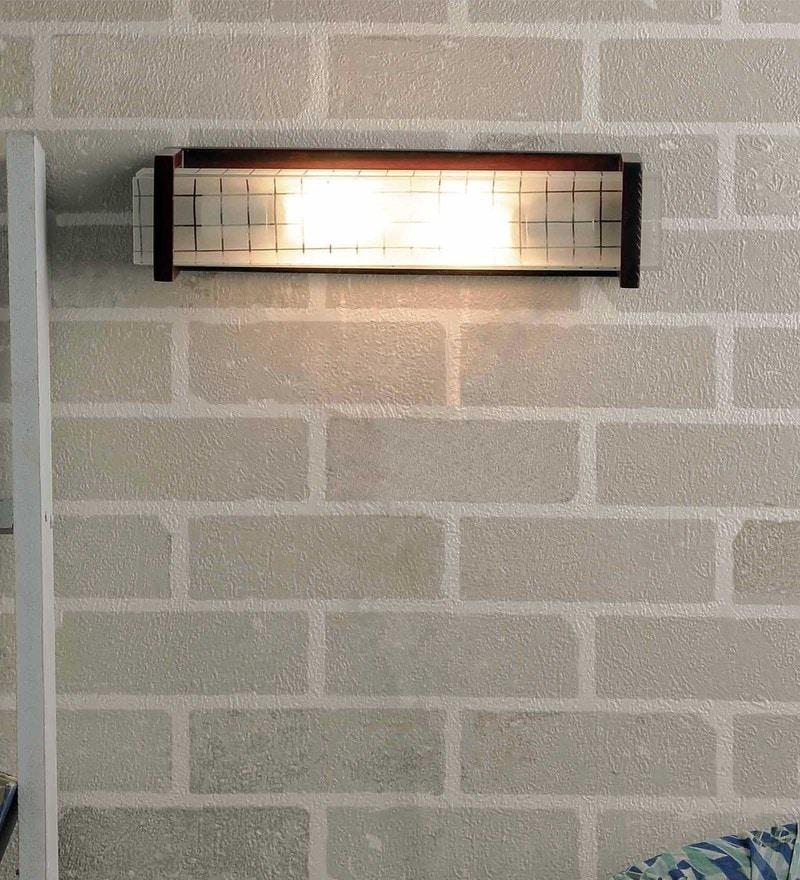 Off White Glass Bath Light by New Era