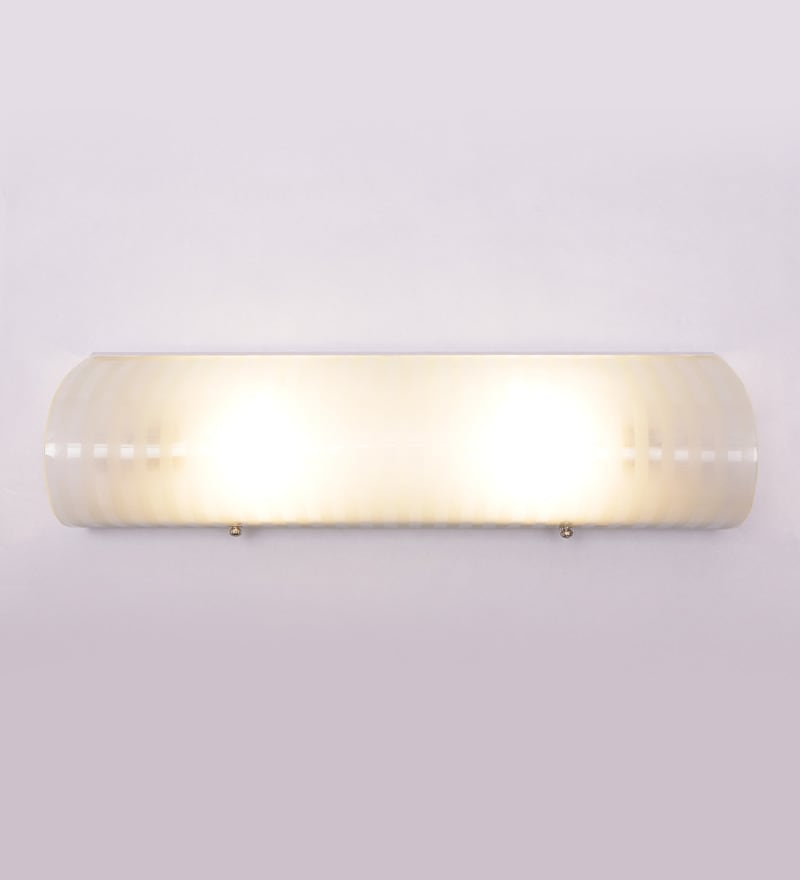 Ribbed Pattern Single-shade 2-way Bathroom Light by New Era