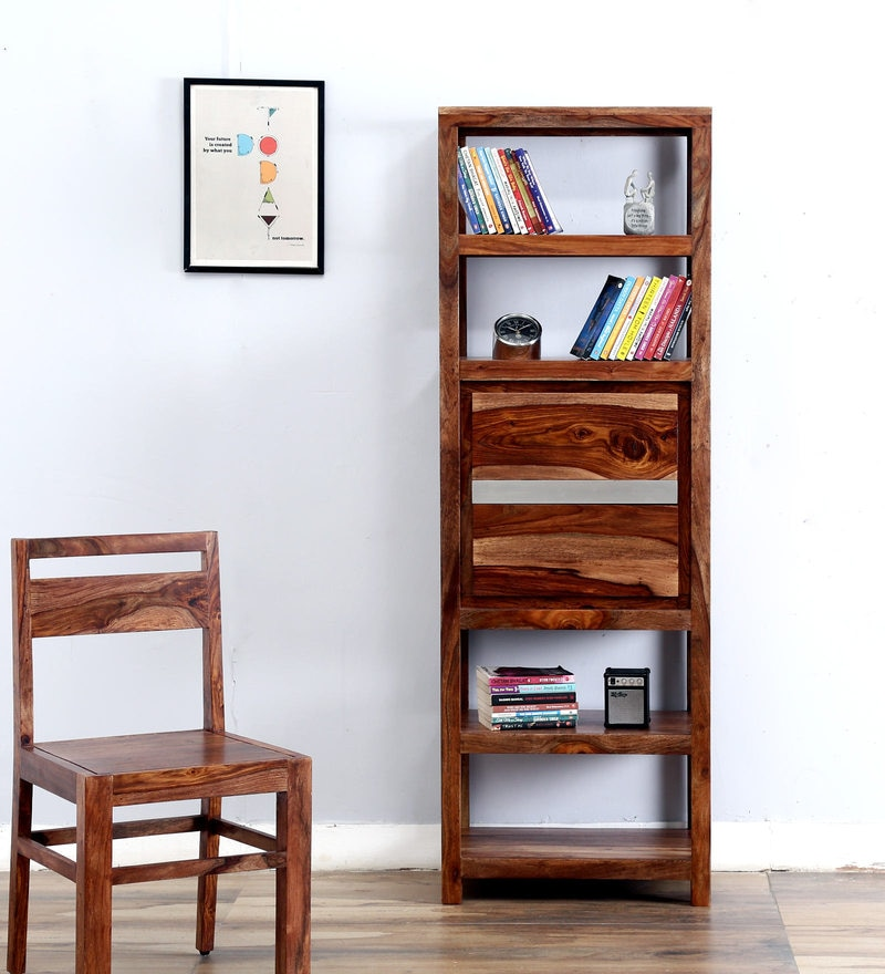 Newport Book Shelf in Warm Walnut Finish by Woodsworth
