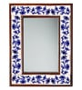 Neerja Blue & White Wood & Ceramic 12 X 1 X 16 Inch Pottery Mirror
