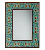 Signore Rectangular Wall Mirror with Ceramic Art Work by Neerja