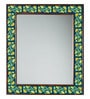 Neerja Multicolour Wood & Ceramic Pottery Mirror