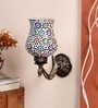 New Era Peacock Antique Multicolor Wall Mounted Lamp