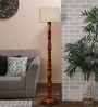 Brown Bamboo Floor Lamp by New Era