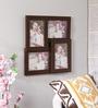 New Era Brown MDF & Mango Wood 15 x 0.5 x 15 Inch Collage Photo Frame - Set of 4