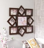 New Era Brown MDF & Mango Wood 27 x 0.5 x 28 Inch Collage Photo Frame - Set of 9