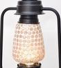 New Era White and Gold Glass Lantern