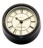 Nextime Black Metal 4.3 x 1 Inch Amsterdam Round Table Clock