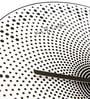 Nextime Black Plastic 15.5 x 1 Inch Dots Round Wall Clock