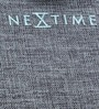 Nextime Blue Wooden 11.8 x 1 Inch Calm Round Wall Clock