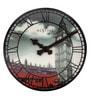 Nextime Multicolour Plastic 15.5 x 1 Inch Big Ben-inspired Round 3D Wall Clock
