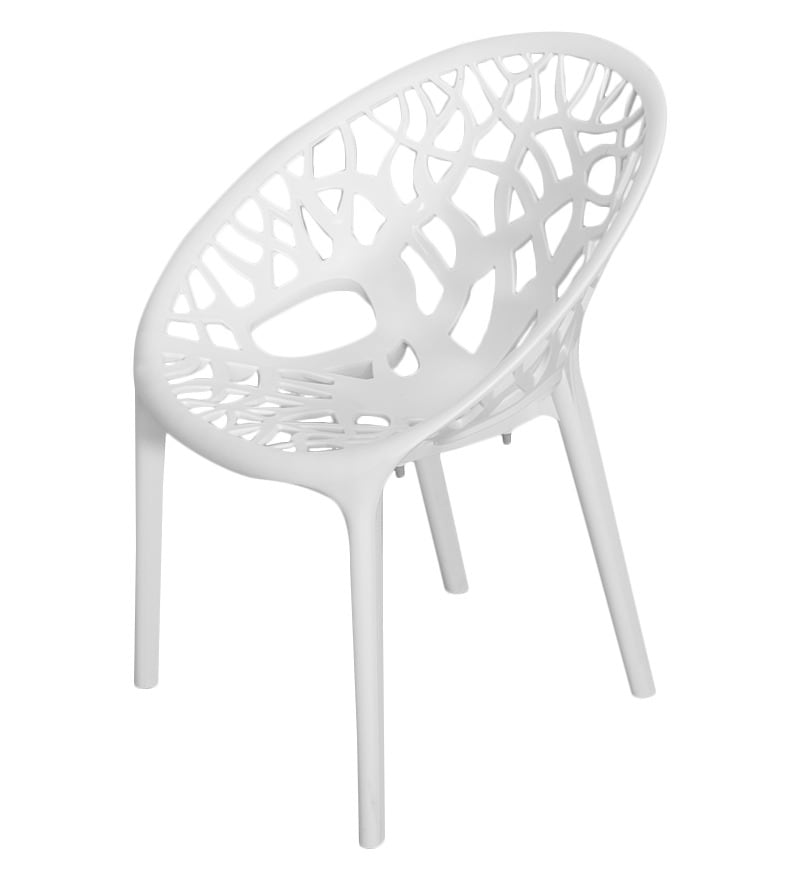 Nilkamal Crystal Milky White Visitors Chair By Nilkamal