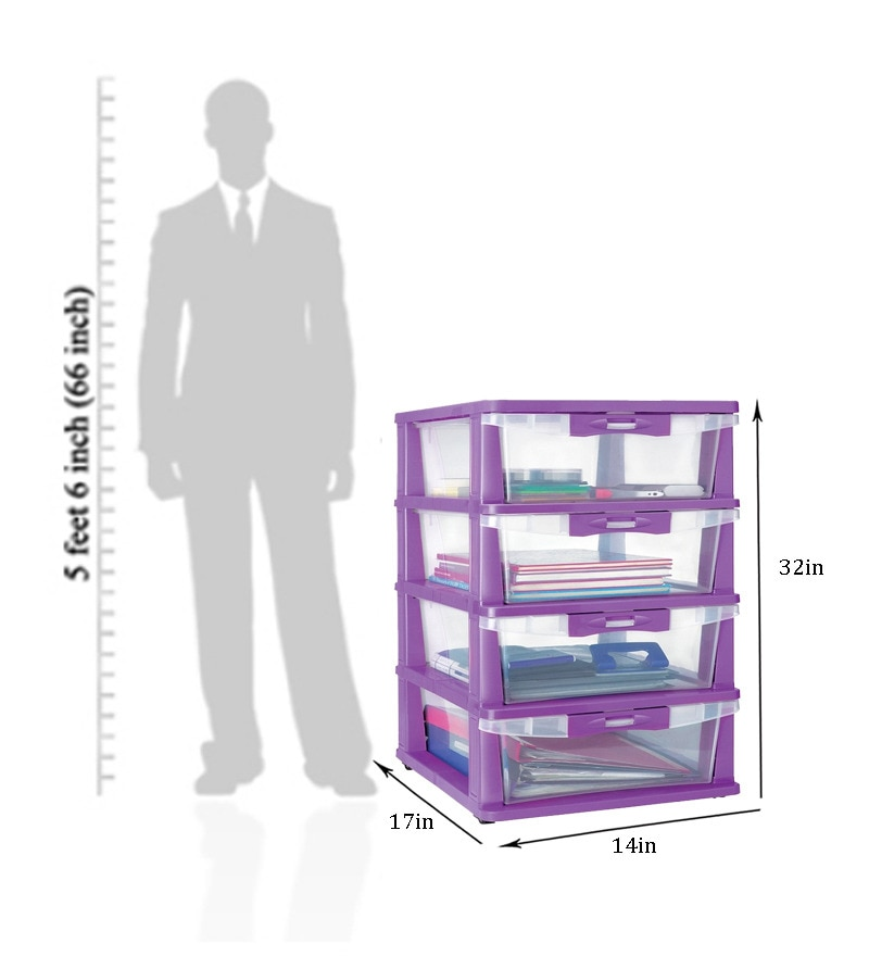 Nilkamal Freedome Chester - 24 With 4 Drawers (Translucent)