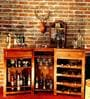 Ityaka Bar Cabinet in Provincial Teak Finish by Mudramark
