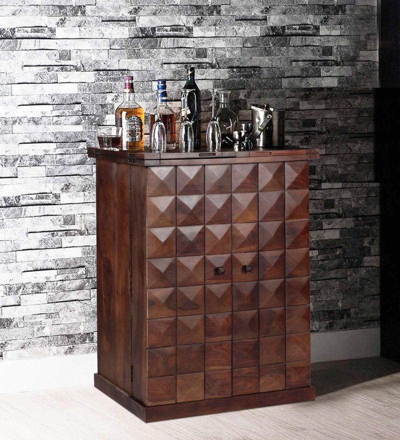 Norman Large Bar Cabinet in Provincial Teak Finish by Woodsworth