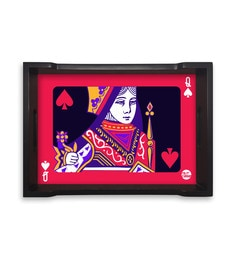 Nutcase Queen Of Cards Multicolour Pinewood Serving Tray