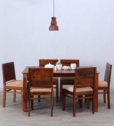 Oakville Six Seater Dining Set In Honey Oak Finish