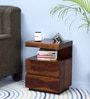 Oakville Bedside Table in Provincial Teak Finish by Woodsworth