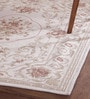 Obeetee Beige Cotton 72 x 48 Inch Aubusson Canvas Print Carpet