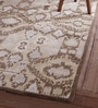 Beige Wool 96 x 60 Inch Kristo Carpet by Obeetee