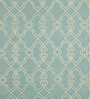 Blue & Ivory Wool 60 x 96 Inch Scroll Carpet by Obeetee