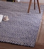 Blue Wool 96 x 60 Inch Devin Tufted Carpet by Obeetee