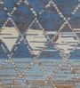 Obeetee Grey & Blue Wool 60 x 96 Inch Huma Carpet