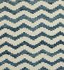 Obeetee Ivory & Blue Wool 60 x 96 Inch Geo Carpet