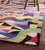 Multicolour Wool 84 x 60 Inch Retro Carpet by Obeetee