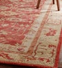 Red Wool 96 x 60 Inch Caleb Persian Carpet by Obeetee