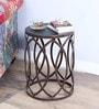 Obuasi End Table in Coffee Brown Finish by Bohemiana