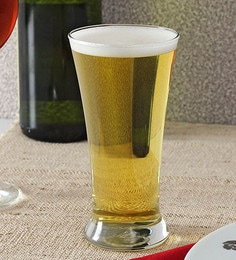 Ocean Pilsner Glass 340 ML Beer Mugs - Set Of 6