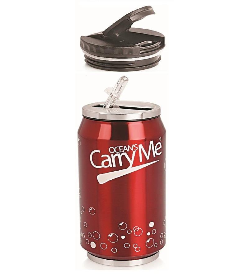 Ocean CarryMe Sippie Red Stainless Steel 330 ML Thermocan with Lid