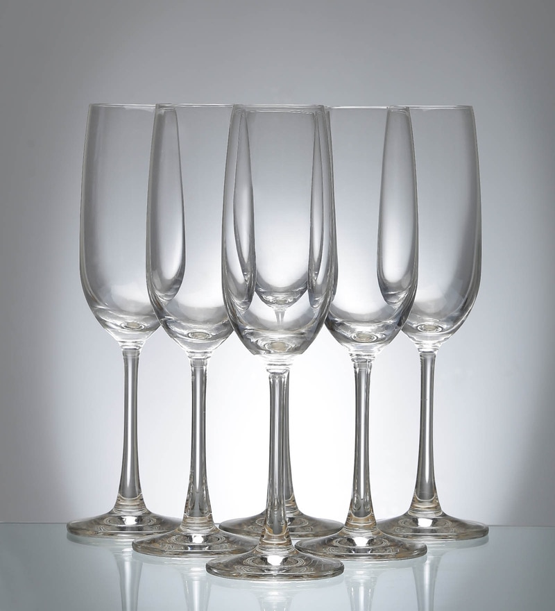 Ocean 210 ML Flute Champagne Glass  Set of 6
