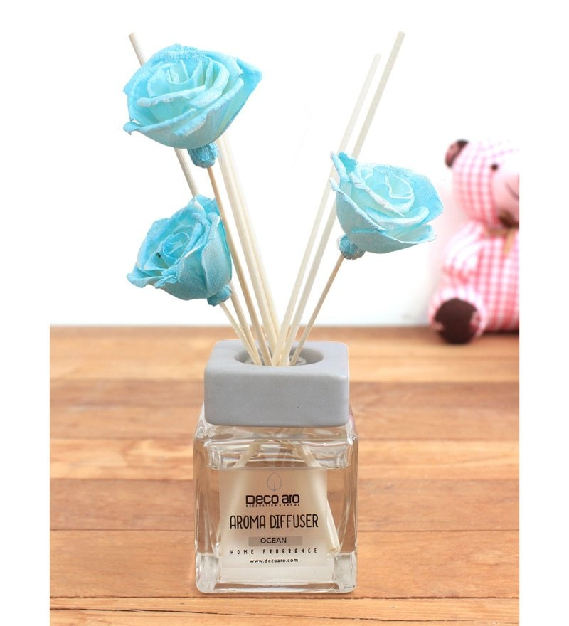 Ocean Thai Rose Flower in Reed Sticks Diffuser by Deco Aro
