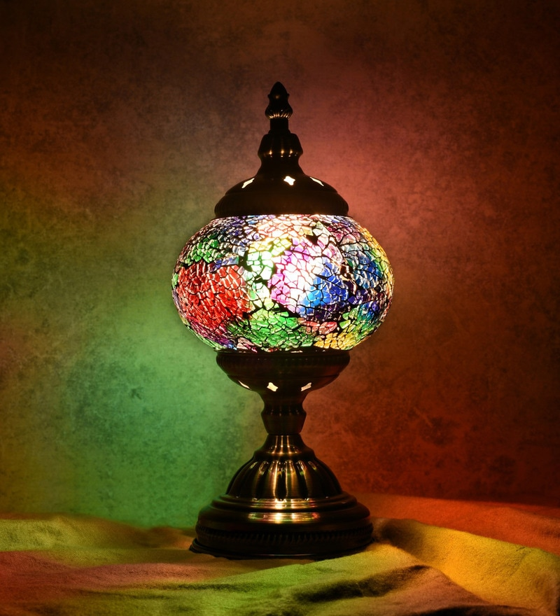 Multicolour Glass Table Lamp by OddCroft