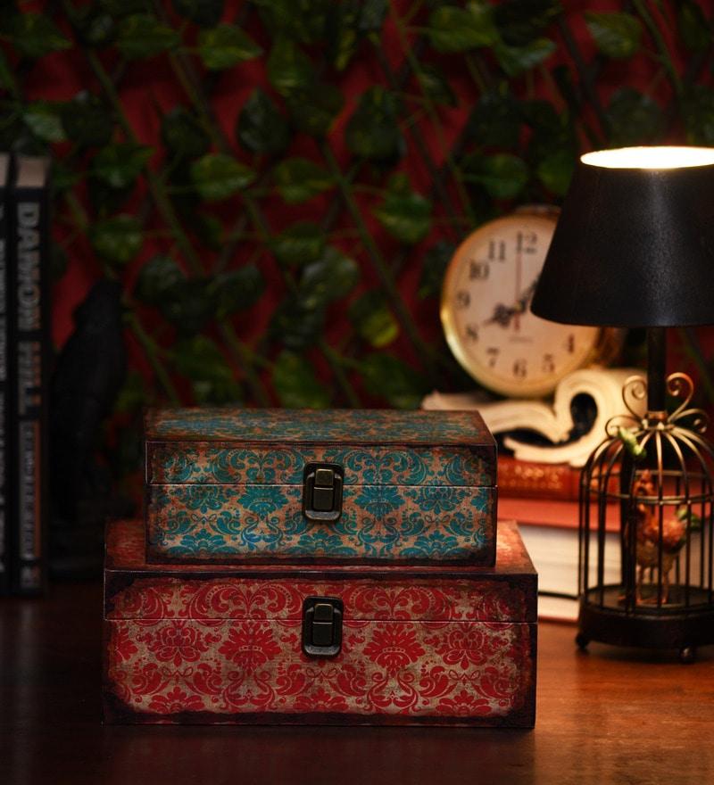 Victorian Wood & Acrylic Nestable Keepsake Boxes - Set of 2 by OddCroft