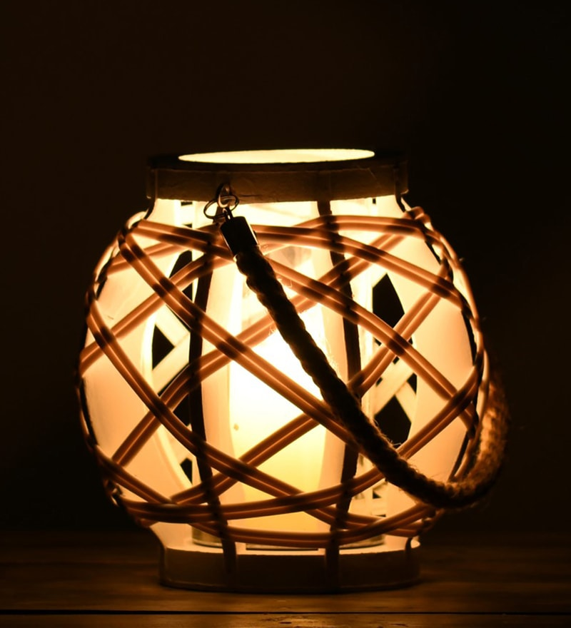 White Wood Lantern by OddCroft