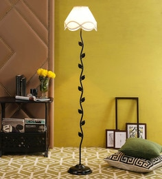 Off White Cotton Floor Lamp By New Era - 1672749