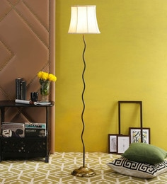 Off White Cotton Floor Lamp By New Era - 1672760